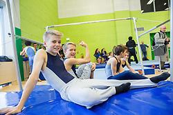 Young athletes during Grand Opening of new Ljubljana Gymnastics centre Cerar-Pegan-Petkovsek, on November 26, 2015 in Ljubljana, Slovenia. Photo by Vid Ponikvar / Sportida