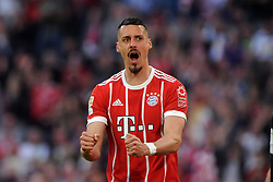 14.04.2018, Allianz Arena, Muenchen, GER, 1. FBL, FC Bayern Muenchen vs Borussia Moenchengladbach, 30. Runde, im Bild Sandro Wagner (FC Bayern Muenchen) // during the German Bundesliga 30th round match between FC Bayern Munich and Borussia Moenchengladbach at the Allianz Arena in Muenchen, Germany on 2018/04/14. EXPA Pictures &copy; 2018, PhotoCredit: EXPA/ Eibner-Pressefoto/ Stuetzle<br /> <br /> *****ATTENTION - OUT of GER*****