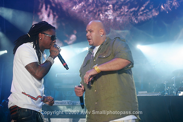 Lil' Wayne and Fat Joe performing at Giant's Stadium in East Rutherford New Jersey on June 3, 2007 during Hot 97's Summerjam 2007.