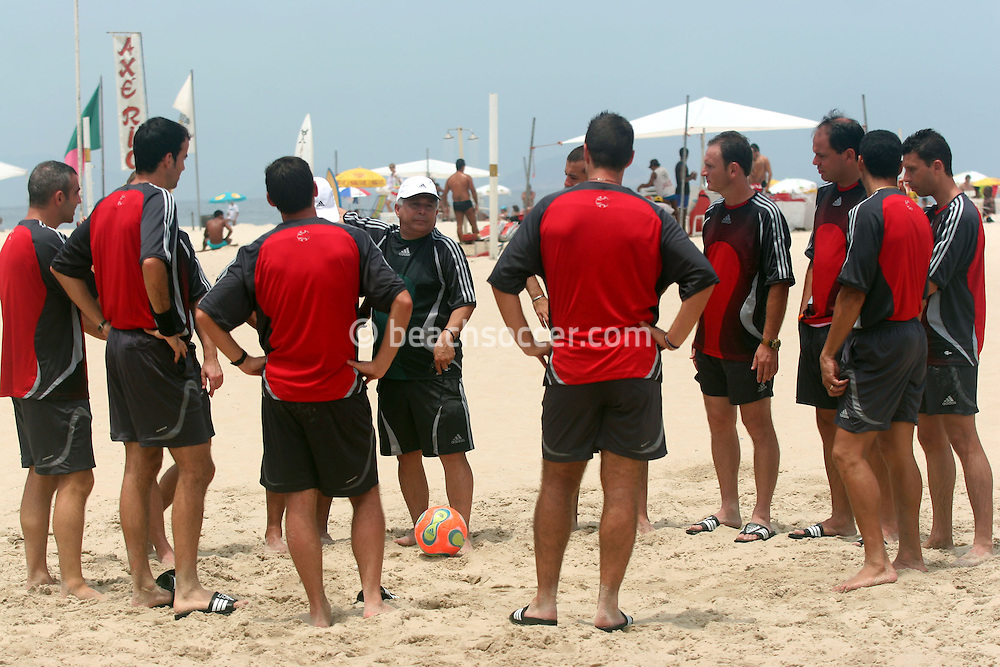 Football - FIFA Beach Soccer World Cup 2006 - Referees physical training - Rio de Janeiro - Brazil 1/11/2006<br />