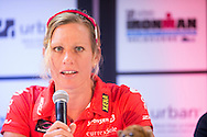 Caroline Steffen (SUI). Ironman Melbourne Press Conference. Ironman Melbourne Triathlon. Asia Pacific Championship. URBAN HOTEL, St Kilda, Melbourne, Victoria, Australia. 22/03/2013. Photo By Lucas Wroe
