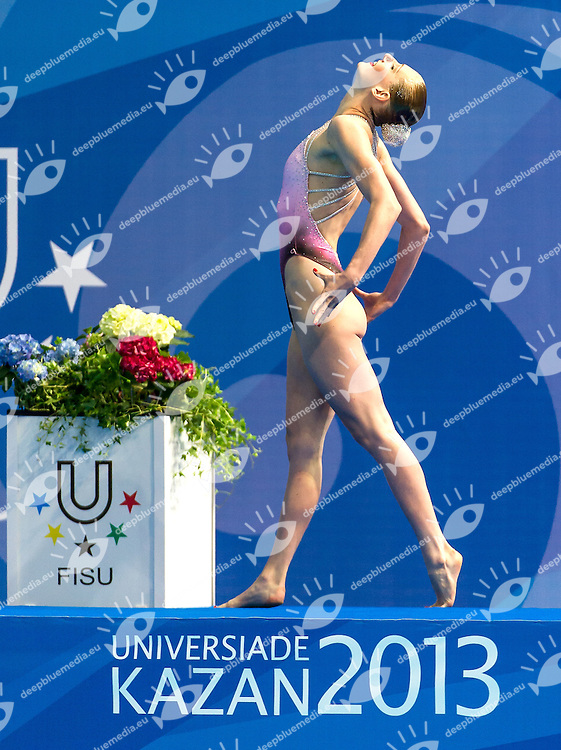 ROMASHINA Svetlana,Russia,RUS<br /> 27th Summer Universiade <br /> 5 - 17 July 2013 Kazan Tatarstan Russia<br /> Day 01 synchronized swimming Solo Tech<br /> Photo G. Scala/Insidefoto/Deepbluemedia.eu