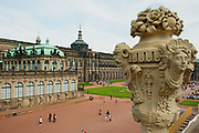 DRESDEN, GERMANY - MAY 22, 2010: View to the historical buildings of the famous Zwinger palace in Dresden, Germany.