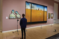 Salvador Dali, Couple with their Heads in the Clouds, Landscape with a Girl Skipping Rope, Scottish National Gallery of Modern Art  (Modern One) Surreal Encounters Collection, Edinburgh, 2nd June 2016, <br /> (c) Brian Anderson   Edinburgh Elite media