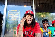 Rapper Waka Flocka in Atlanta, Georgia August 17, 2010.