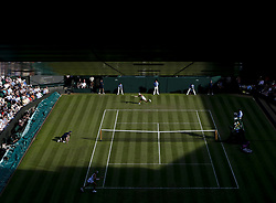 2017?7?4?.       ?????1???——????????????.         7?4????????????.         ???????????2017????????????????????????????2?1???????Timea Babos???????.        ????????.(SP) BRITAIN-LONDON-TENNIS-WIMBLEDON-DAY 2.(170704) -- LONDON, July 4, 2017  Caroline Wozniacki of Denmark competes during the women's singles first round match with Timea Babos of Hungary during Day Two of the Championship Wimbledon 2017 at Wimbledon, London, Britain on July 4, 2017. (Credit Image: © Han Yan/Xinhua via ZUMA Wire)