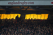 Twickenham, Surrey. UK. Sunset behanf the West Stand. England vs Samoa, Autumn International. Old Mutual Wealth Series. RFU Stadium, Twickenham. Surrey, England.<br />