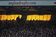 Twickenham, Surrey. UK. Sunset behanf the West Stand. England vs Samoa, Autumn International. Old Mutual Wealth Series. RFU Stadium, Twickenham. Surrey, England.<br /> <br /> Saturday  25.11.17  <br /> <br /> [Mandatory Credit Peter SPURRIER/Intersport Images]