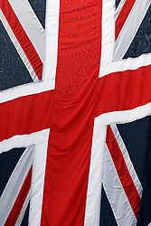 21 April 2011. London, England..Proud to be British. The Union Jack flag flies all across Britain in the run up to Catherine Middleton's marriage to Prince William..Photo; Charlie Varley.