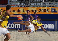 Football-FIFA Beachsoccer World Cup 2006-Group B- France- Training session in Rio de Janeiro Brazil-31/10/2006.<br /> Mandatory credit: Photocamera/Marco Antonio Rezende.