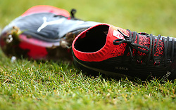 The boots of Marc Bola of Bristol Rovers are left on the side of the pitch - Mandatory by-line: Robbie Stephenson/JMP - 27/01/2018 - FOOTBALL - The Keepmoat Stadium - Doncaster, England - Doncaster Rovers v Bristol Rovers - Sky Bet League One