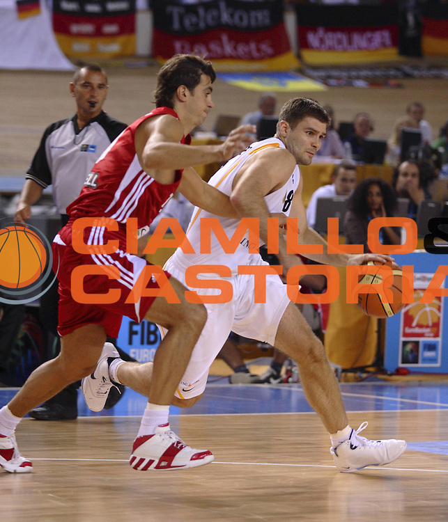 DESCRIZIONE : Palma di Maiorca Palma de Mallorca Spagna Spain Eurobasket Men 2007 Germania Turchia Germany Turkey <br /> GIOCATORE : Johannes Herber <br /> SQUADRA : Germania Germany <br /> EVENTO : Eurobasket Men 2007 Campionati Europei Uomini 2007 <br /> GARA : Germania Turchia Germany Turkey <br /> DATA : 04/09/2007 <br /> CATEGORIA : Palleggio <br /> SPORT : Pallacanestro <br /> AUTORE : Ciamillo&amp;Castoria/T.Wiedensohler <br /> Galleria : Eurobasket Men 2007 <br /> Fotonotizia : Palma de Mallorca Spagna Spain Eurobasket Men 2007 Germania Turchia Germany Turkey <br /> Predefinita :