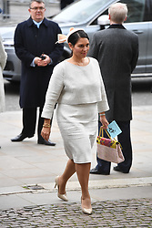 © Licensed to London News Pictures. 09/03/2020. London, UK. Britsh Homd Secretary Priti Patel attends the annual Commonwealth Service at Westminster Abbey. Photo credit: Ray Tang/LNP