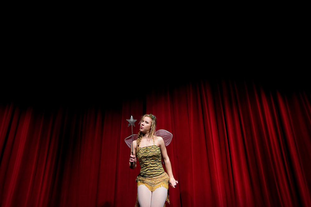 """Grace Friesen performs as Faye during dress rehearsal for """"Faith County 2: An Evening of Culture"""" Wednesday at Grand Island Senior High. (Independent/Matt Dixon)"""