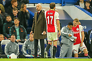 RED CARD Ajax defender Daley Blind (17) walks off the pitch after being given a red card, blanked by Ajax manager Erik Ten Hag during the Champions League match between Chelsea and Ajax at Stamford Bridge, London, England on 5 November 2019.