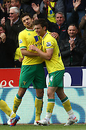 Picture by Paul Chesterton/Focus Images Ltd.  07904 640267.07/04/12.Jonny Howson of Norwich scores his sides equalising goal and celebrates during the Barclays Premier League match at Carrow Road Stadium, Norwich.