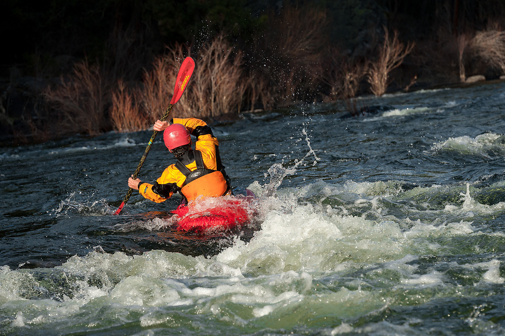 Whitewater kayaking on the Swan River Wild Mile in Bigfork Montana