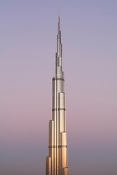 Burj Khalifa  at sunrise in Dubai  United Arab Emirates