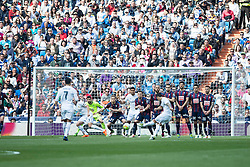 09.04.2016, Estadio Santiago Bernabeu, Madrid, ESP, Primera Division, Real Madrid vs SD Eibar, 32. Runde, im Bild Real Madrid's James Rodriguez goal // during the Spanish Primera Division 32th round match between Real Madrid and SD Eibar at the Estadio Santiago Bernabeu in Madrid, Spain on 2016/04/09. EXPA Pictures © 2016, PhotoCredit: EXPA/ Alterphotos/ Borja B.Hojas<br /> <br /> *****ATTENTION - OUT of ESP, SUI*****