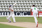 Dane Vilas cuts Ben Mike for 4 during the Bob Willis Trophy match between Lancashire County Cricket Club and Leicestershire County Cricket Club at Blackfinch New Road, Worcester, United Kingdom on 4 August 2020.