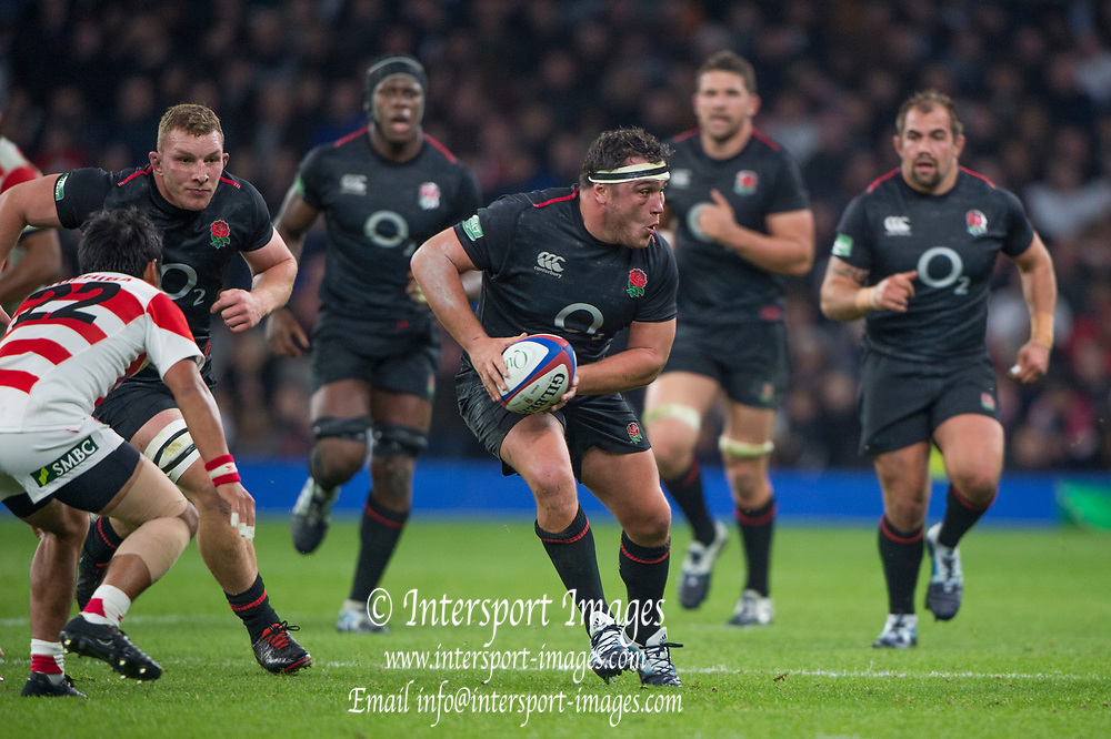 Twickenham, United Kingdom, Saturday, 17th  November 2018, RFU, Rugby, Stadium, England, Jamie GEORGE, during the  Quilter Autumn International, England vs Japan, © Peter Spurrier