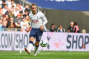 Tottenham Hotspur Midfielder Christian Eriksen (23) in action during the Premier League match between Tottenham Hotspur and Fulham at Wembley Stadium, London, England on 18 August 2018.