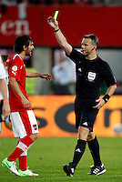 Football Fifa Brazil 2014 World Cup Matchs-Qualifier / Europe - Group C / <br /> Austria vs Germany 1-2  ( Ernst Happel Stadium-Vienna, Austria )<br /> The Dutch Referee Bjorn KUIPERS , Gesture during the match between Austria and Germany