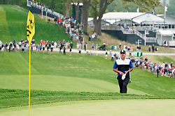 May 19, 2019 - Bethpage, New York, United States - Brooks Koepka lines up a putt on the 18th green during the final round of the 101st PGA Championship at Bethpage Black. (Credit Image: © Debby Wong/ZUMA Wire)