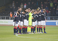 Dundee observe a minute's silence for former director Molly Reid - Dundee v St Mirren in the William Hill Scottish Cup at Dens Park, Dundee. Photo: David Young<br /> <br />  - &copy; David Young - www.davidyoungphoto.co.uk - email: davidyoungphoto@gmail.com