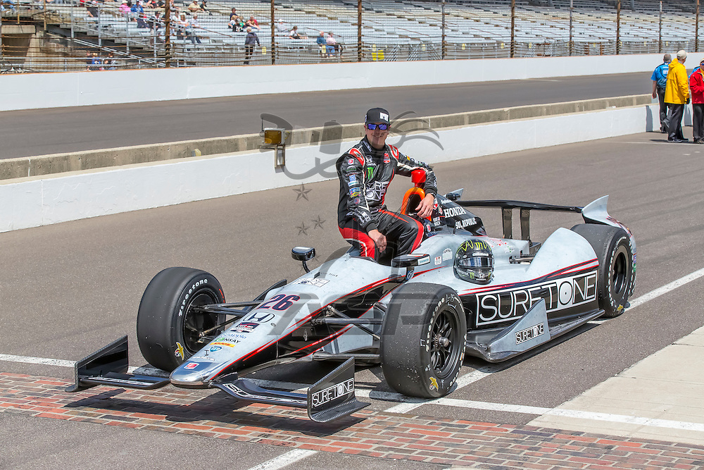indianapolis, IN - May 17, 2014:  Kurt Busch (26) makes his qualifying run of 229.256 MPH for the Indianapolis 500 at Indianapolis Motor Speedway in indianapolis, IN. <br /> <br /> MANDATORY PHOTO CREDIT:  Walter G. Arce, Sr. KBI/ActionSportsInc.com