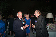NICHOLAS COLERIDGE; ED VICTOR, CARTIER CHELSEA FLOWER SHOW DINNER Dinner hosted by Cartier in celebration of the Chelsea Flower Show was held at Battersea Power Station. 22 May 2012