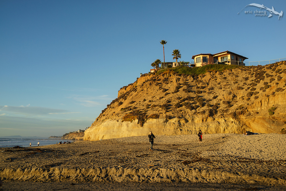 Cliffs and the beach at Solana Beach, San Diego, California