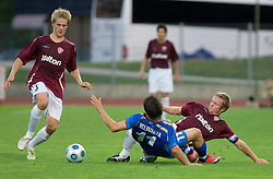 Henri Toivomaki and Etien Velikonja of Gorica at 1st football match of 2nd preliminary Round of UEFA Europe League between ND Gorica and FC Lahti, on July 16 2009, in Nova Gorica, Slovenia. (Photo by Vid Ponikvar / Sportida)