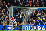 Florin Andone (Brighton) attempt at goal saved by Jonathan Bond (GK) (West Brom) during the FA Cup fourth round match between Brighton and Hove Albion and West Bromwich Albion at the American Express Community Stadium, Brighton and Hove, England on 26 January 2019.