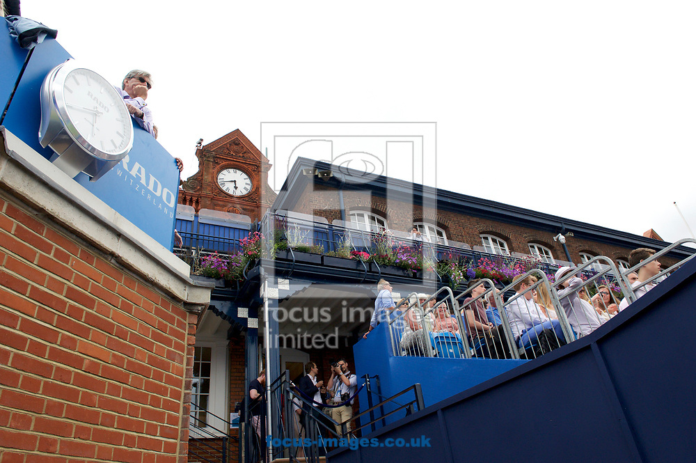A general view of the Pavillion clock on day four of the Aegon Championships 2017 held at The Queen's Club, Kensington, UK.<br /> Picture by Alan Stanford/Focus Images Ltd +44 7915 056117<br /> 22/06/2017