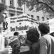 A demonstration for the workers rights in Berlin, Germany.