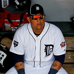 March 9, 2011; Lakeland, FL, USA; Detroit Tigers first baseman Miguel Cabrera (24) before a spring training exhibition game against the Philadelphia Phillies at Joker Marchant Stadium.   Mandatory Credit: Derick E. Hingle
