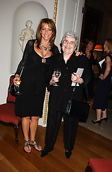 Actress SHARON MAUGHAN and her mother at the Bruce Oldfield Crimestoppers Party held at Spencer House, 27 St.James's Place, London SW1 on 22nd September 2005.<br />