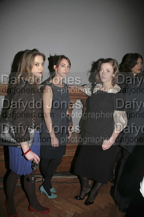 DAISY DE VILLENEUVE, POPPY DE VILLENEUVE AND CAMILLA RUTHERFORD 6th Annual Lanc»me Colour Designs Awards In association with CLIC Sargent Cancer Care.  Lindley Hall, Vincent Sq. London. 28 November 2006.  ONE TIME USE ONLY - DO NOT ARCHIVE  © Copyright Photograph by Dafydd Jones 248 Clapham Rd. London SW9 0PZ Tel 020 7733 0108 www.dafjones.com