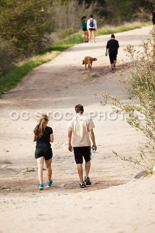 People Walking on Trail