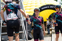 Tiffany Cromwell (CANYON//SRAM Racing) makes her way to the presentation stage ahead of the final stage of the Giro Rosa 2016 on 10th July 2016. A 104km road race starting and finishing in Verbania, Italy.
