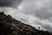 Dark clouds over Mt Humphreys, 12,637.<br /> Flagstaff, Arizona