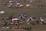 Naadam village<br /> Naadam horse race<br /> Jockey's aged 4-12 years and most often girls<br /> Ulaanbaatar race track<br /> Mongolia