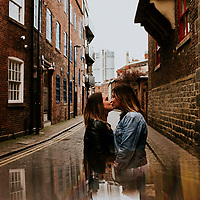 The River Rises ~ Kaity & Charlotte's Leeds City Centre Engagement Shoot