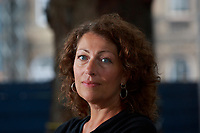 Elisabeth Åsbrink Swedish author, appears in Edinburgh International Book Festival talking about her book called When Now Begins looks.