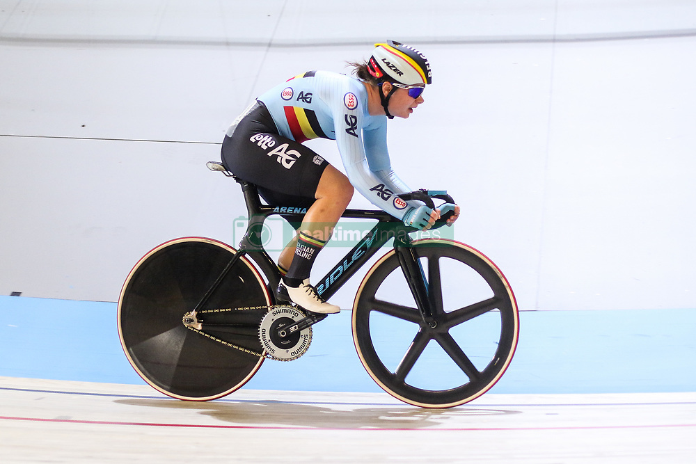 March 2, 2018 - Apeldoorn, Netherlands - Lotte Kopecky (BEL) competes during the women's omnium during the UCI Track Cycling World Championships in Apeldoorn on March 2, 2018. (Credit Image: © Foto Olimpik/NurPhoto via ZUMA Press)