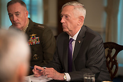 April 26, 2018 - Washington, District of Columbia, U.S. - Defense Secretary JAMES MATTIS meets with Israeli Defense Minister at the Pentagon. Lieberman and Mattis discussed particularly heightened tensions between Iran, Israel, and the US.(Credit Image: ? US Navy/DOD via ZUMA Wire/ZUMAPRESS.com)