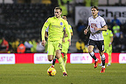 Brighton's James Wilson on the ball during the Sky Bet Championship match between Derby County and Brighton and Hove Albion at the iPro Stadium, Derby, England on 12 December 2015. Photo by Shane Healey.