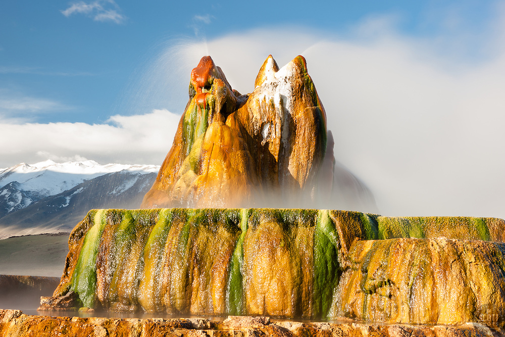 """""""Fly Geyser 8"""" - Photograph of the famous man made Fly Geyser in Nevada."""