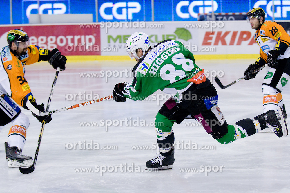 Matt Higgins (HDD Tilia Olimpija, #88) during ice-hockey match between HDD Tilia Olimpija and Moser Medical Graz 99ers in 21st Round of EBEL league, on November 21, 2010 at Hala Tivoli, Ljubljana, Slovenia. (Photo By Matic Klansek Velej / Sportida.com)